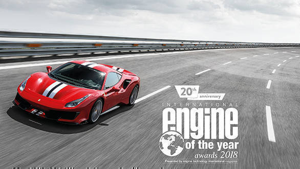 Ferrari's turbo V8 voted the best engine of the last 20 years