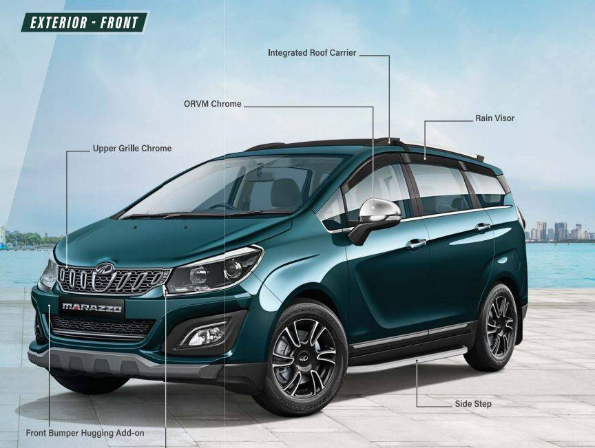 Mahindra Marazzo accessory options available in India, image gallery