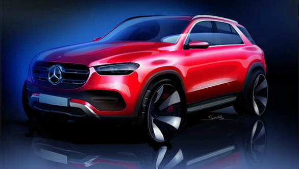 Mercedes-Benz GLE-Class SUV teased in new video and sketch