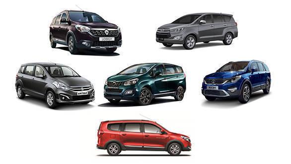 Spec comparison: Mahindra Marazzo vs Renault Lodgy vs Tata Hexa vs Toyota Innova Crysta vs Maruti Suzuki Ertiga