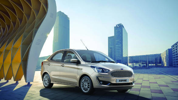 2018 Ford Aspire facelift bookings open in India ahead of launch