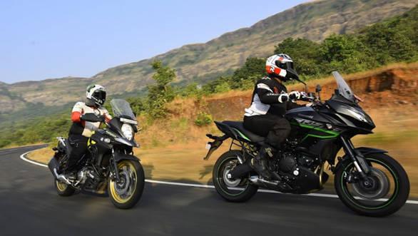 Suzuki V Strom 650 Xt Vs Kawasaki Versys 650 Comparison Test Overdrive