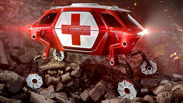 Hyundai designs 4-legged walking vehicle  that could help during natural disasters