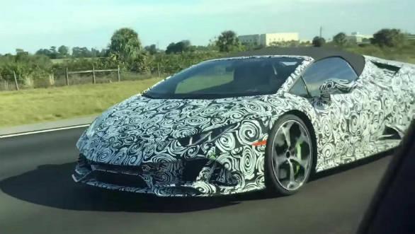 Upcoming 2019 Lamborghini Huracan Evo Spyder Spied Testing Overdrive