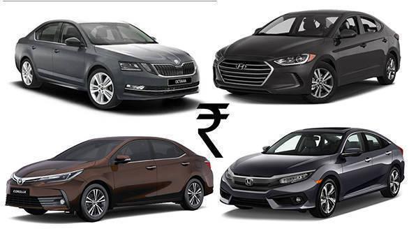 Price Comparison 2019 Honda Civic Vs Hyundai Elantra Vs Skoda