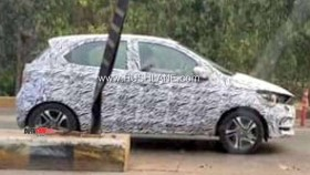 More spy images emerge of upcoming Tata Tiago facelift