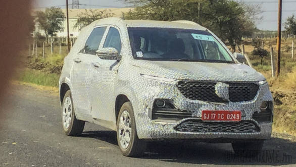 Mg Hector Suv Caught Testing In India Launch In June 2019 Overdrive