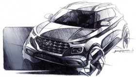 Upcoming Hyundai Venue compact SUV teased in design sketches