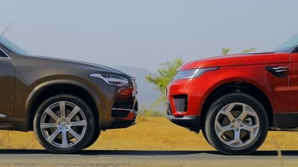 Exclusive Comparison Test Range Rover Sport Vs Volvo Xc90