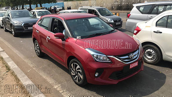 Toyota Glanza Hatchback Spotted In The Flesh Ahead Of Its Official