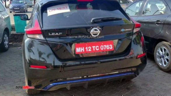 2019 Nissan Leaf Ev Hatchback Spotted Testing Ahead Of India Launch
