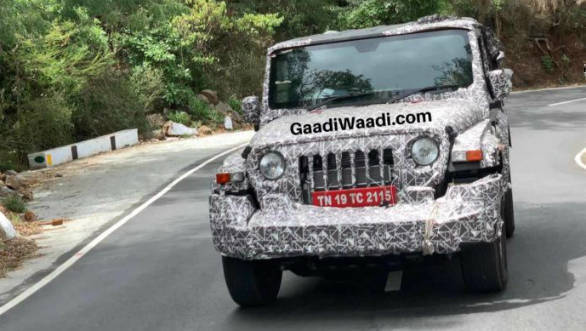 2020 Mahindra Thar 4x4 seen in more spy photos - Overdrive