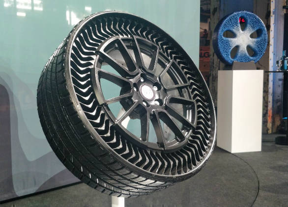 Michelin, GM Unveil Airless Tires That Eliminate Flats, Reduce Waste