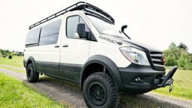 Swiss Army Sprinter is an off-road capable MPV, making use of solar power
