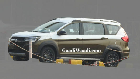 Upcoming Maruti Suzuki Xl6 Mpv Spotted In A New Brown Shade Overdrive
