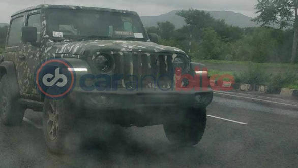 2019 Jeep Wrangler SUV spotted testing in India again ahead of