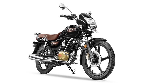 TVS Radeon celebratory edition in Black and Chrome scheme