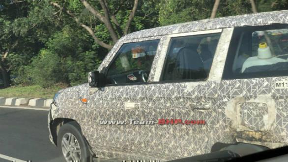 2020 Mahindra TUV300 Plus facelift spotted testing again
