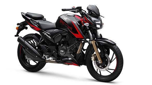 TVS Apache RTR 200 4V on sale in India for reference