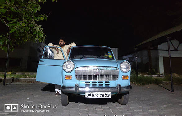 Ahmad Salman with his 1995 Padmini S1 Deluxe