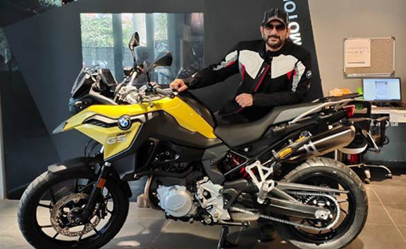Arshad Warsi with his BME F 750 GS