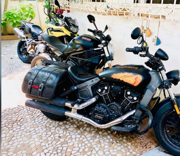 Arshad Warsi's Indian Scout and Ducati Monster 821