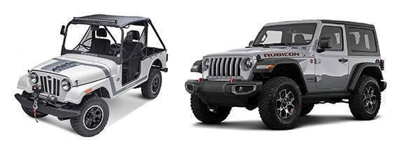 Left - Mahindra Roxor. Right Jeep Wrangler Rubicon.