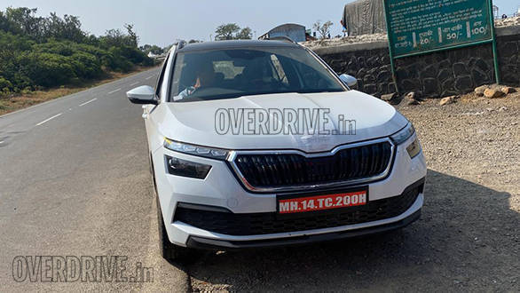 Upcoming Skoda Kamiq SUV spotted testing in India for the first time