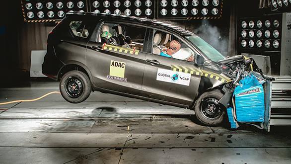 Maruti Suzuki Ertiga in the 2019 Global NCAP Crash Test Sixth round