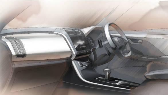 Hyundai Creta 2020 - interior-sketch