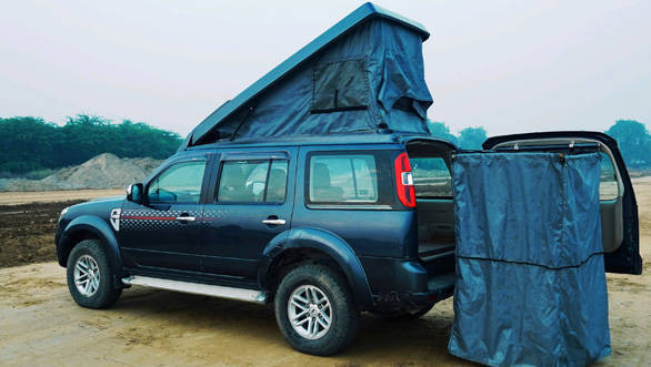 Counter to COVID - Pop Up Roof Ford Endeavour SUV Camper