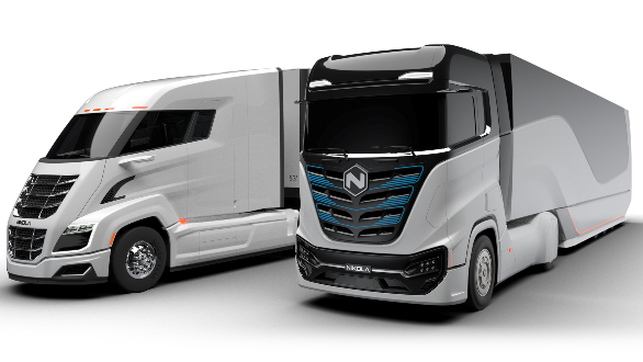 The Nikola Two and Tre the company's flagship trucking products