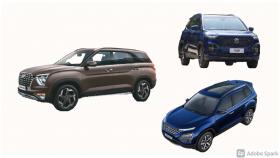 Spec comparison: Hyundai Alcazar vs Tata Safari vs MG Hector Plus