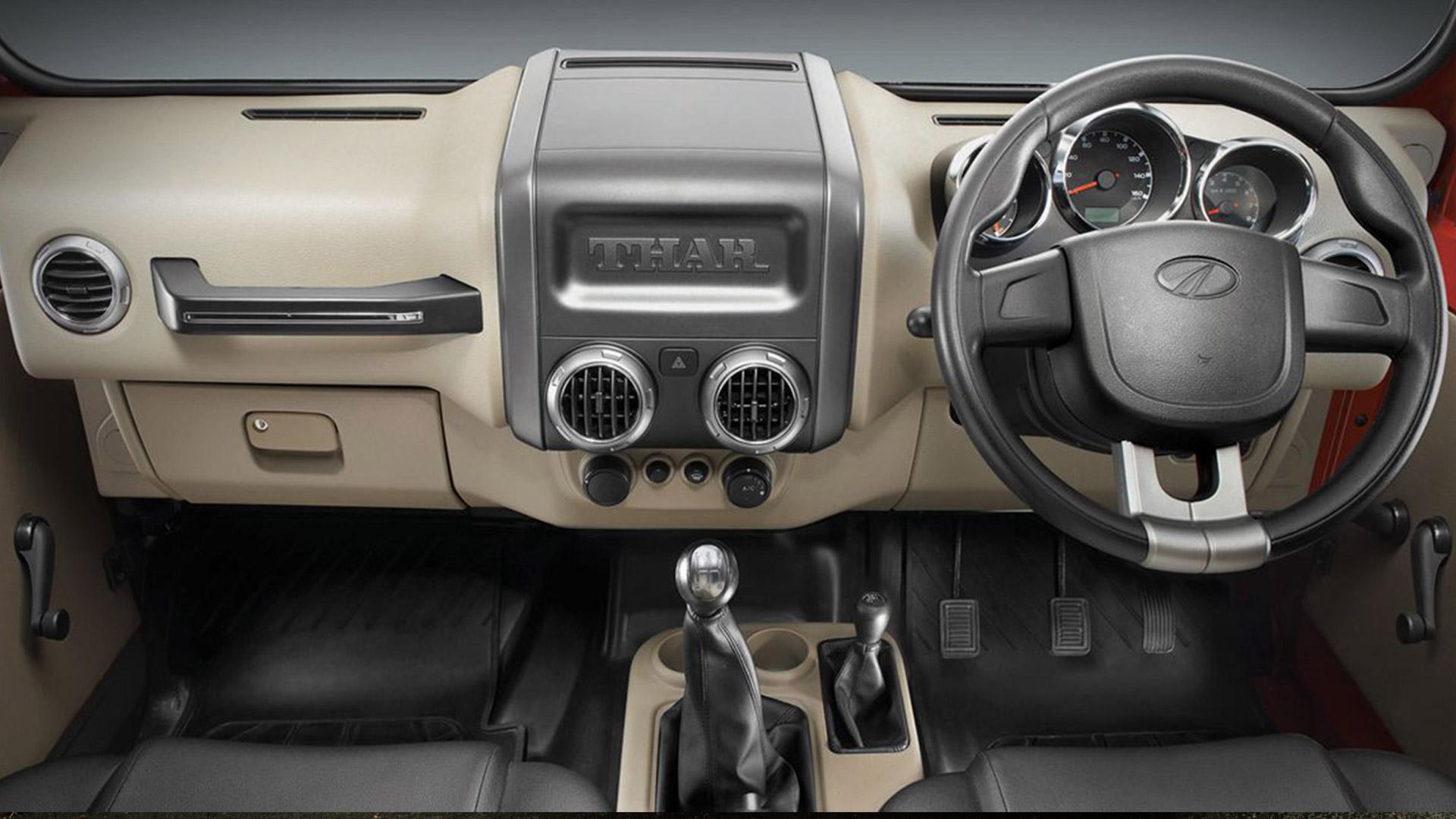 Mahindra Thar 2015 CRDe 4x4 Interior