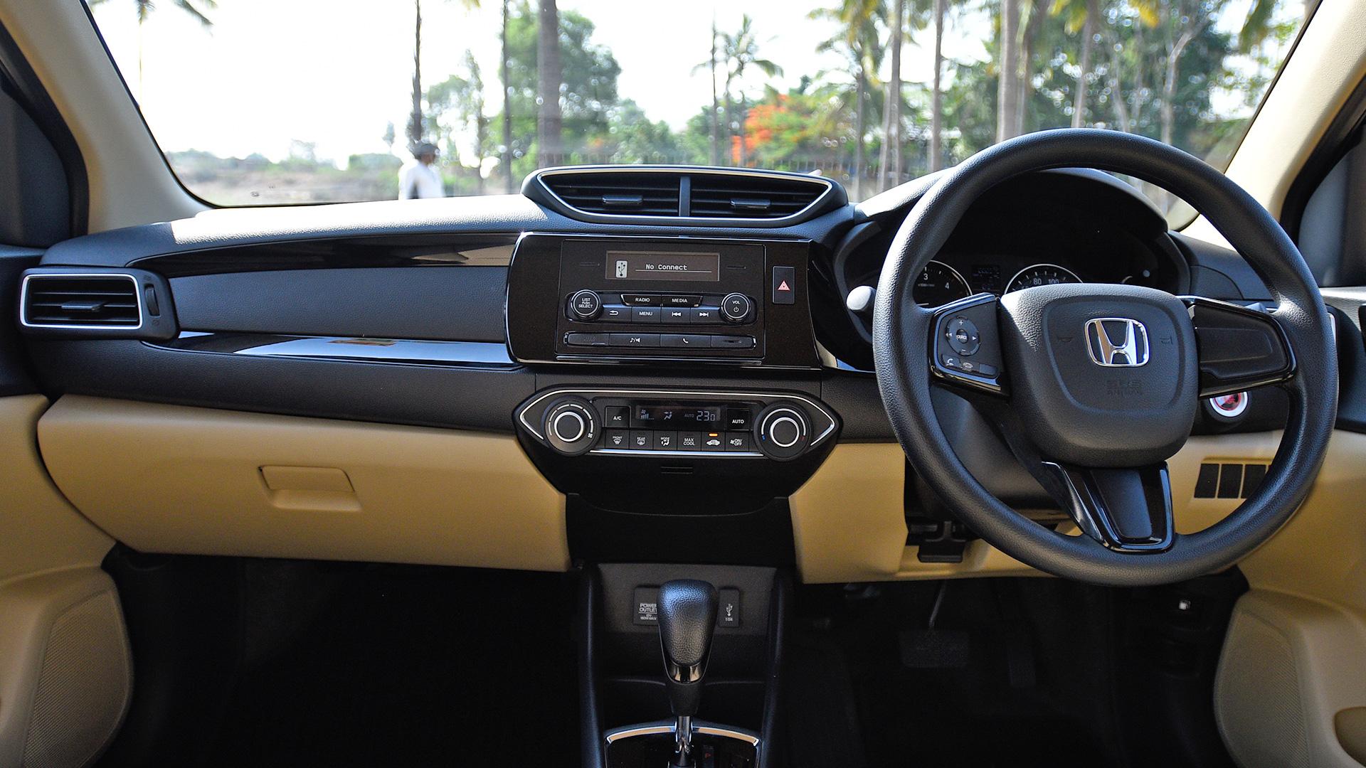 Honda Amaze 2018 V Cvt Interior Car Photos Overdrive