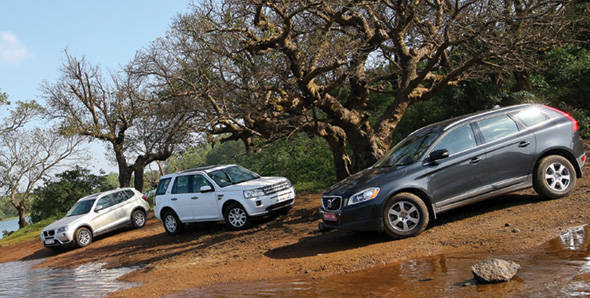 Land Rover Freelander 2 vs Volvo XC60 vs BMW X3