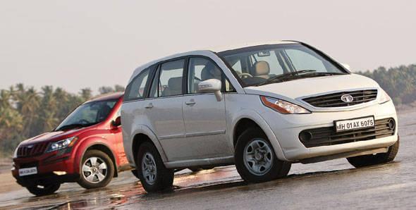 Tata Aria vs Mahindra XUV500