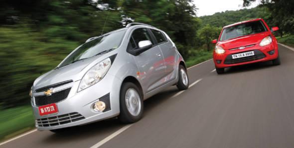 Chevrolet Beat diesel vs Ford Figo diesel