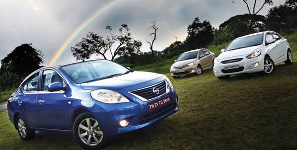 Nissan Sunny vs Hyundai Verna vs Toyota Etios