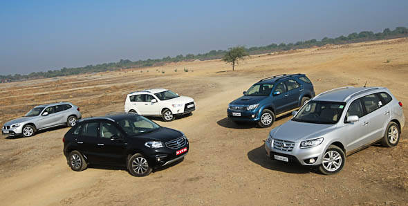Comparo - Santa Fe vs Fortuner vs Outlander vs Koleos vs X1