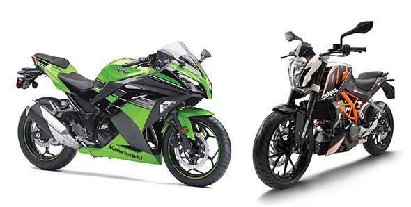 KTM 390 Duke vs Kawasaki Ninja 300