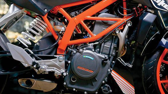 2013 KTM 390 Duke chassis