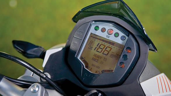 2013 KTM 390 Duke meter dials