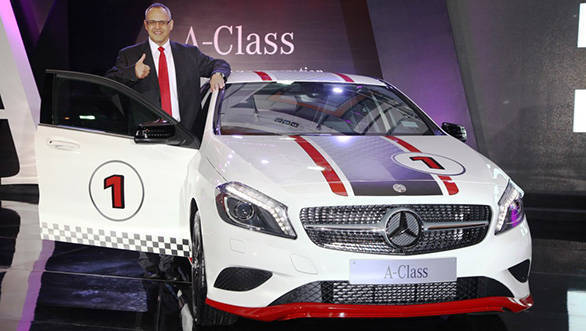 2013 Mercedes A-Class at launch