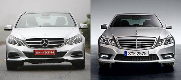 E-class front comparison shot