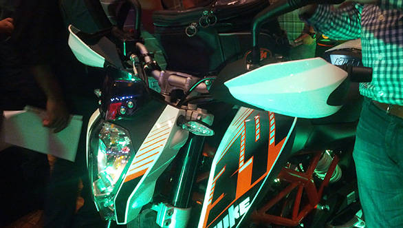 On the Indian 390, handguards are part of standard equipment