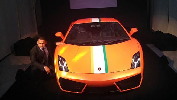Pavan Shetty head of operations, Lamborghini India with the limited Indian edition Gallardo