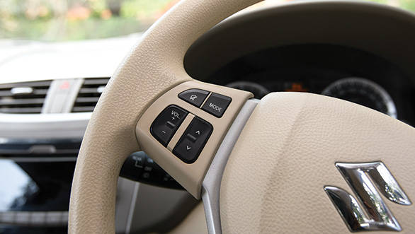 The quality of switches and design of interiors is top notch in the Ertiga