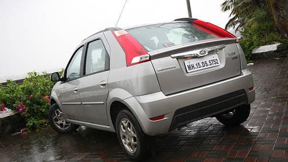2013 Mahindra Verito Vibe rear three fourth