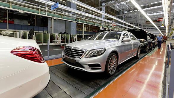 The 2014 Mercedes S-Class being built at the Sindelfingen plant